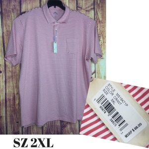 Peter Millar Dewey Seaside Stripe Polo Golf 2XL